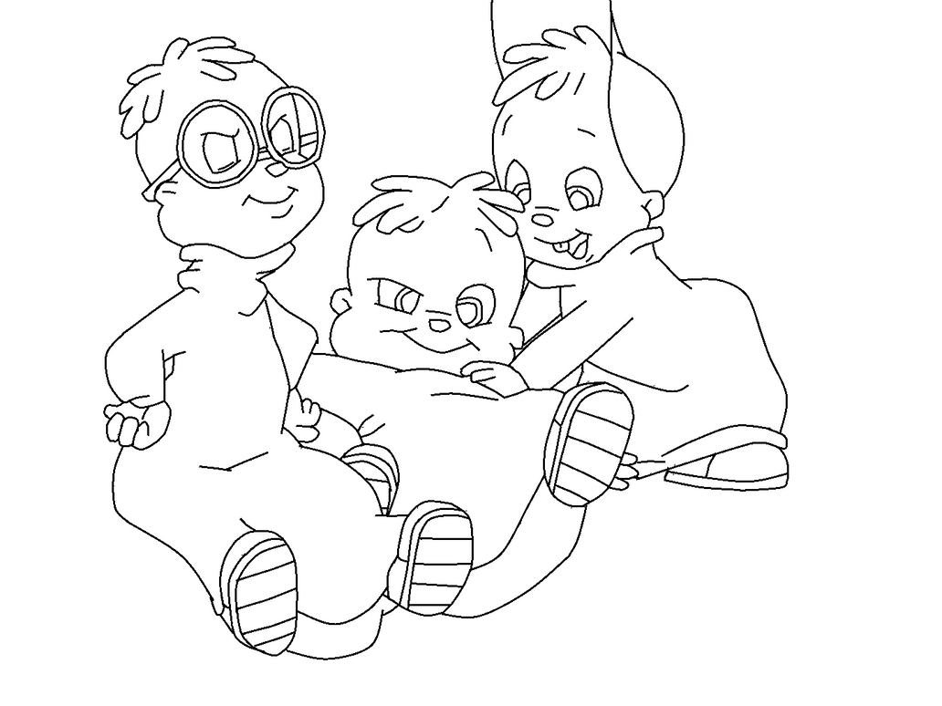 simon and chipmunks coloring coloring pages