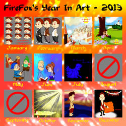 Summary Of Art Progression Calender 2013 by FireFoxOmicron