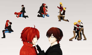 [MMD Pose DL] Yaoi Pose Pack II Download