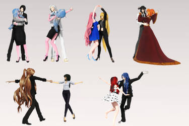 [MMD 100 Watchers Gift] Couple Dance Pose Pack DL! by AimeeSa
