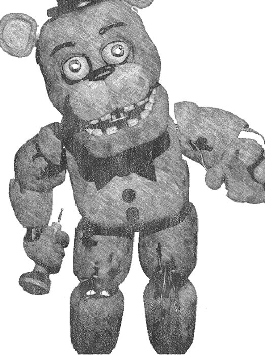 Drawing of Withered Freddy by FFFFNAFFF on DeviantArt