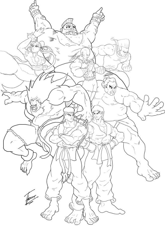 Street Fighter Lines by ToneyHadnotJr
