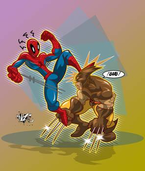 SPIDEY vs WOLVIE