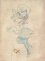2 Gun Girl  by CaziTena