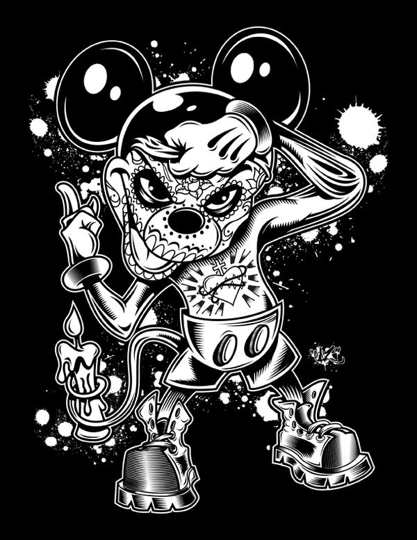 Mickey Day Of The Dead By CaziTena On DeviantART
