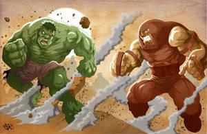 HULK vs JUGGERNAUT COLORS by CaziTena