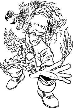 Dragon Fury inks
