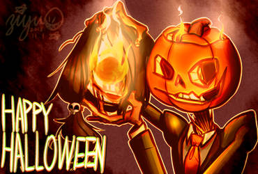 Happy Halloween with Reverse Jack'O lantern by 24195022