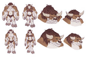 Sexual Dimorphism in WoW Tauren by huldahuoleton