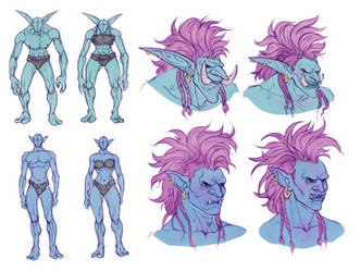 Sexual Dimorphism in WoW Trolls by huldahuoleton