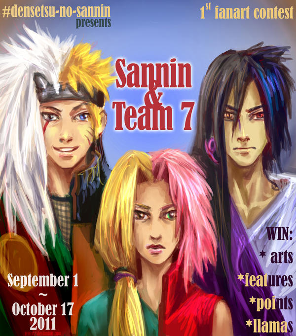 Sannin and Team 7 by jesterry