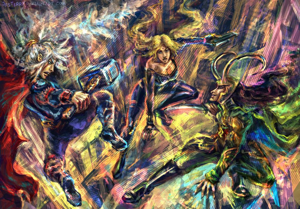 Sannin Avengers by jesterry
