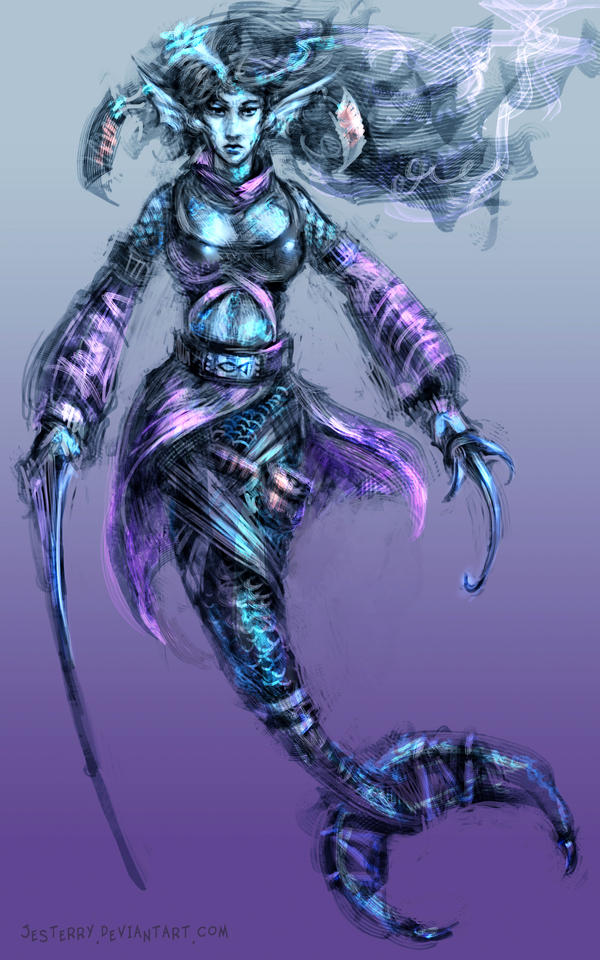 Ninja Mermaid by jesterry