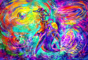 Space Cowboy: Colouring Contest by solar-sea