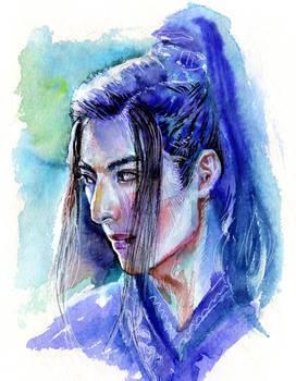 Wang Haoxuan in blue