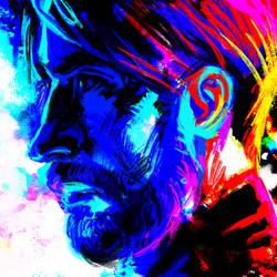 Oleg Volkov in spectral blue