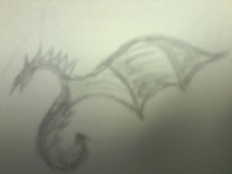pencil dragon by horus-rose