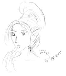 Elf Sketch by horus-rose