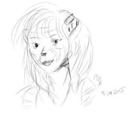Rose Tiger Sketch 09292015 by horus-rose