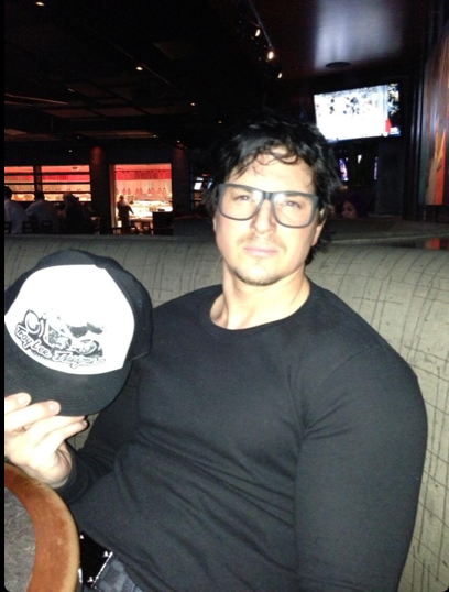 Messy hair and Hipster Glasses Zak Bagans Smiling 2013