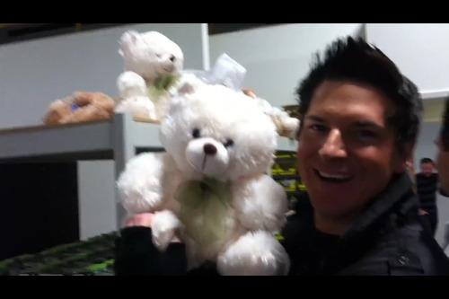 Zak Bagans Smiling Zak and bear by