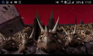 Triceratons watching on Zeno's hammer