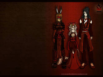 A Coalition of Fire Wallpaper by kingv