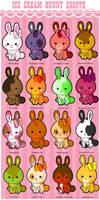 Kawaii Ice Cream Bunnies