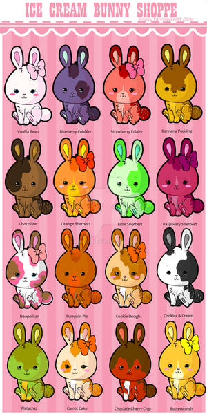 Kawaii Ice Cream Bunnies