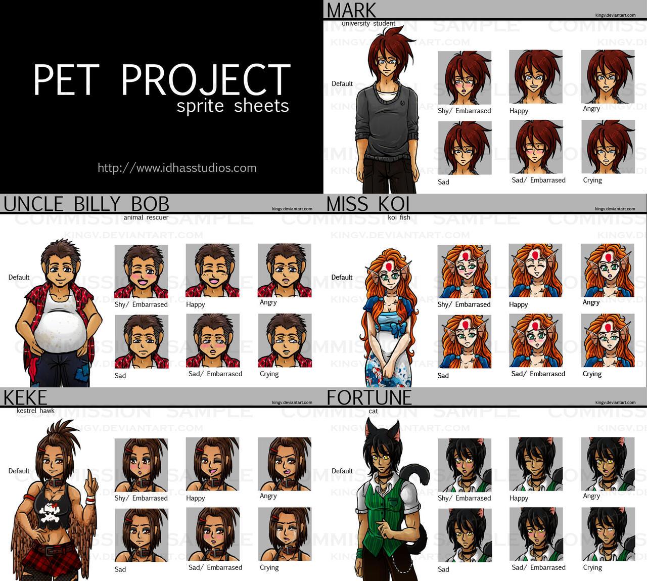 Commission: Pet Project Sprites