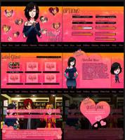 Commission: Falling Hearts GUI by kingv
