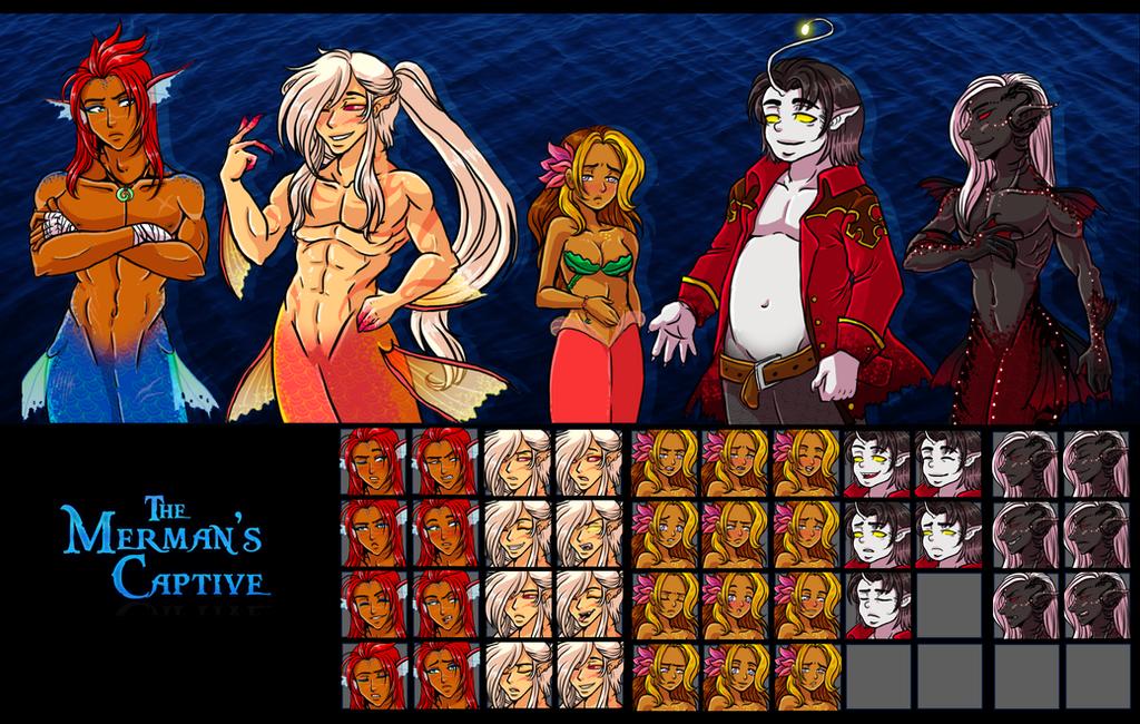The Merman's Captive Cast by kingv