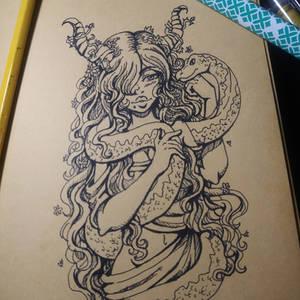 Inktober 2020 Day1: Lilith