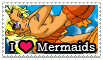 I Love Mermaids Stamp by kingv