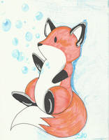 Stupid Fox and Bubbles by LadySai65-Rojas