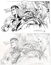 Inking Challenge: Fantastic Four by WillRipamonti