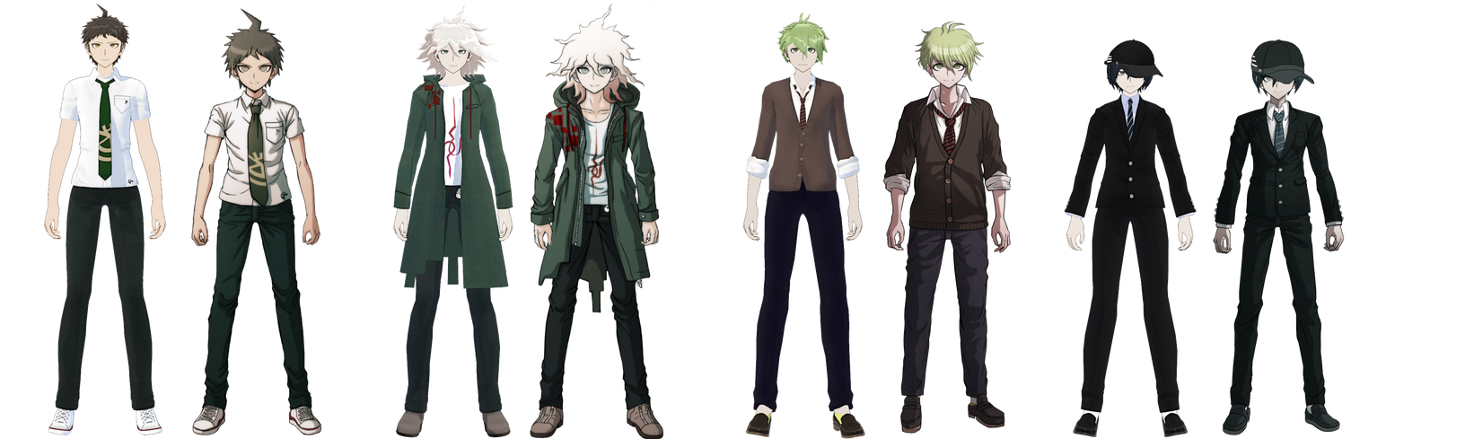 Danganronpa Edit vs Sprite Comparison by AmaiAkai on DeviantArt