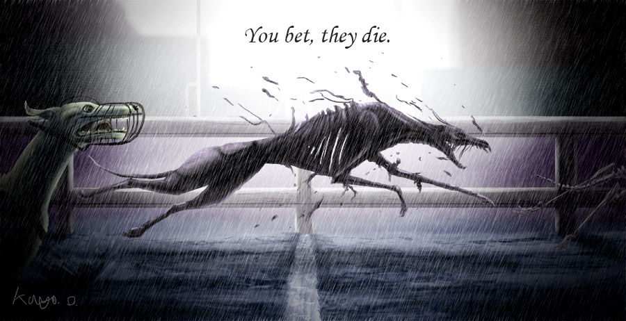 DON'T SUPPORT GREYHOUND RACING!