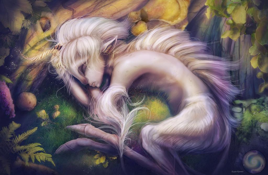Unicorn girl. by Kayas-Kosmos