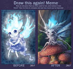 Draw this again - Candlit the bluecap. by Kayas-Kosmos