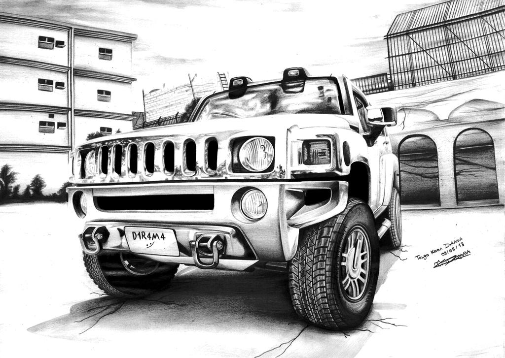 Hummer Drawing Gallery