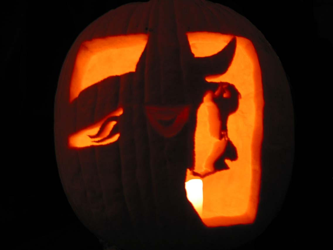 Cool stencil wicked pictures Awesome pumpkin drawings