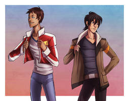 Voltron - Keith + Lance by RinAvenue