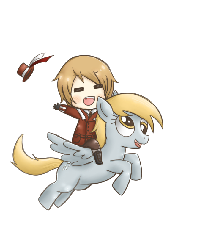 Request- With Derpy Hooves by Roro-Romania