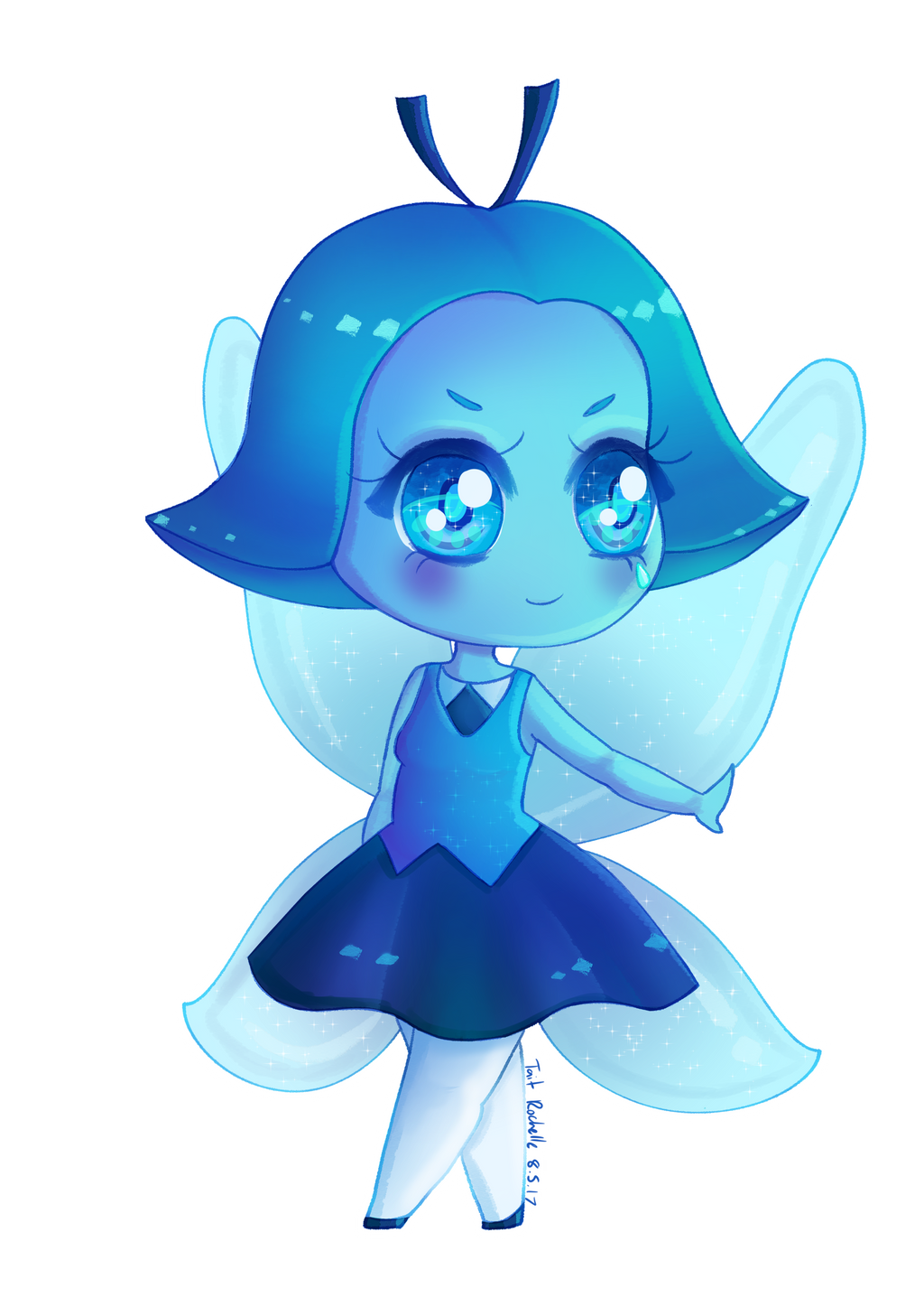 Aquamarine Chibi - Steven Universe By Taitrochelle On -8454
