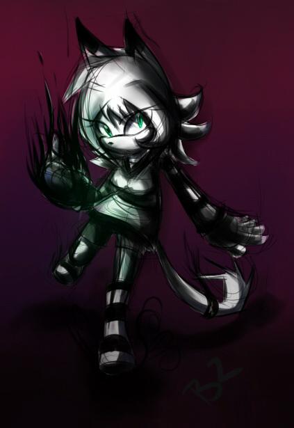 Night Dark With her Black  dark by Zubwayori