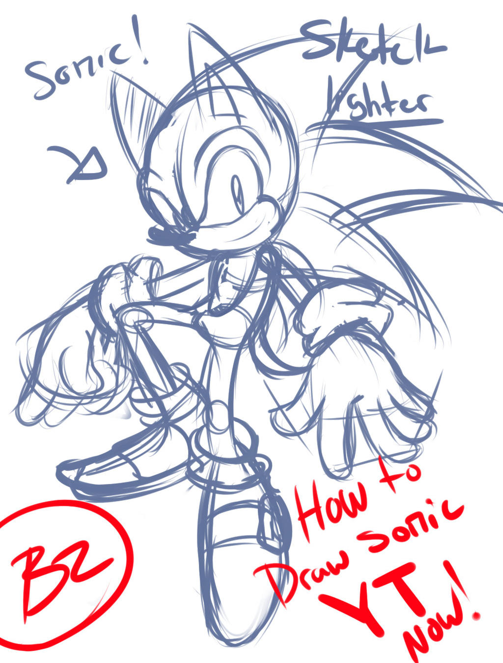 Youtube how to draw sonic sketch only by omiza on deviantart