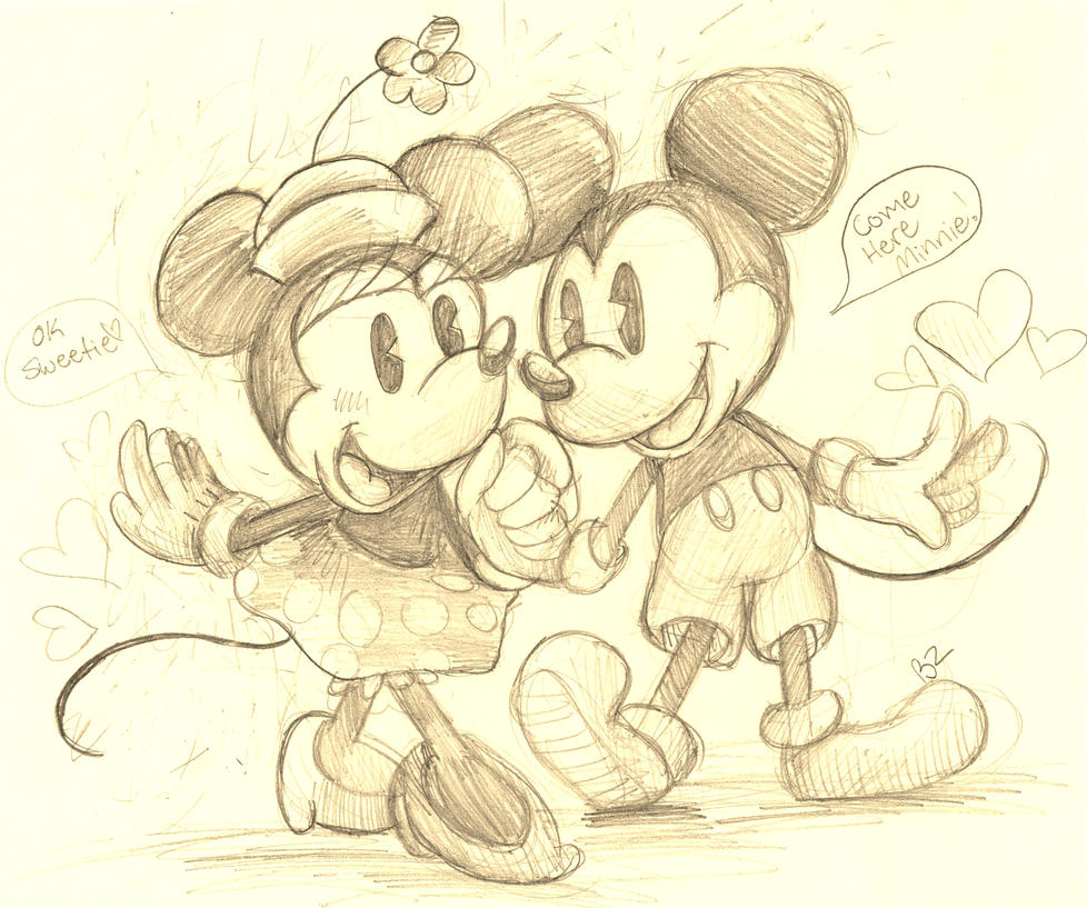 Mickey Mouse Love Drawing Images & Pictures - Becuo Mickey Mouse Love Drawings