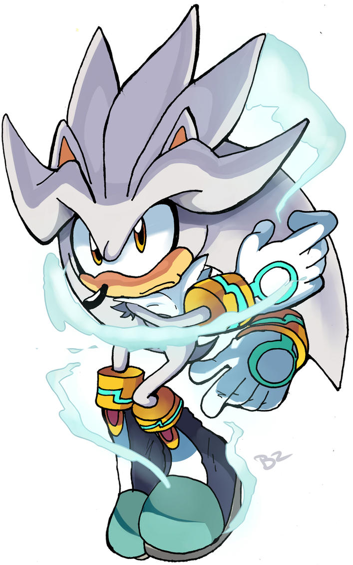 Silver the hedgehog by Omiza
