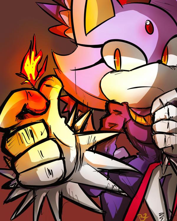 Fire silver the hedgehog